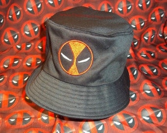 Deadpool Embroidered Bucket Hat - N0T A GLUE-0N PATCH!