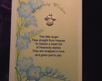 Heavenly Wishes Angel Pin Card