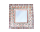 Pink Mosaic Wall Mirror / Nursery Mirror / Baby Girl Nursery Decor