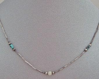 Petite Liquid Silver Beaded Necklace