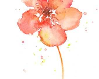 Flower, flower art print, Watercolor art print, giclee art, watercolor giclee, Lenten Rose, Original abstract watercolor, giclee print