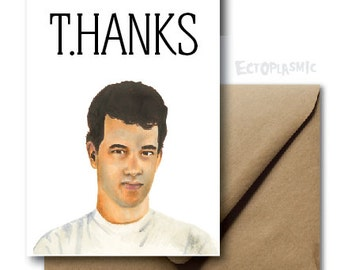 Greeting Card Tom Hanks Thank You Card T.HANKS Hand Drawn Illustration Portrait