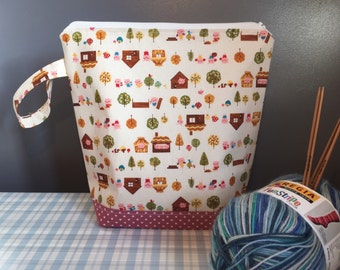 Knitting Project Bag - Three Little Pigs