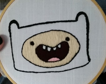 Adventure Time - Finn the Human - Embroidery Wall Hanging