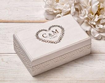 Wedding Ring Pillow, Ring Bearer Pillow, Ring Box,Ring Bearer Box, Wedding Ring Holder,  White Wedding Ring Box, Shabby Chic Wedding