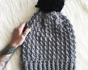 Joey Beanie Crochet Pattern // Easy // Tutorial