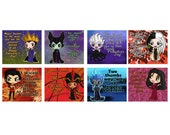 Disney Villains Valentine's Day Valentine Cards - Set of 24  or 36 (8 Designs) with Maleficent, Evil Queen, Jafar, Ursula, Hades and More!