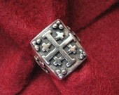 Vintage CRUSADER'S CROSS Sterling Silver Ring -- Gorgeous Details, Christian Crosses on Shank, Size 6.5, 14.3 Grams