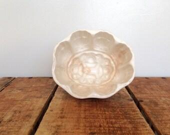 Antique Ironstone Pudding Mold, Geometric Ironstone Mould, White Ironstone Aspic Mold, Ironstone Jelly Mold, Aspic Mold