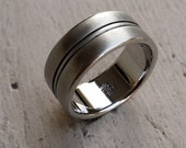 """23 """"SOLE"""" handmade stainless steel ring (not casted)"""