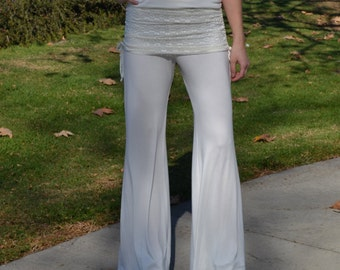 SALE Bell Bottoms in Ivory/Lace