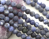 Lot of 5 strands 8mm Matte Sodalite Loose Spacer Beads Round 15.5 inch strand (BD5751)