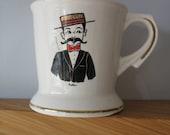 Vintage Moustache Mug - Man With Moustache and Bowtie