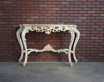 Console / Rococo Console / Marble Top Console / Entry Table / Foyer Console  Carved Console / French Provincial Console Table