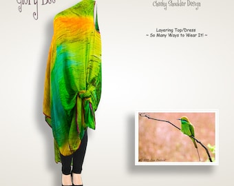 Vibrant chartreuse convertible maxi dress, lime green silk chiffon bridesmaid dress long, one shoulder layering shirt, plus size women dress