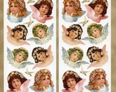 Angels STICKERS - Victorian Angels Stickers - Victorian Stickers - Scrapbook Stickers - Violette Stickers