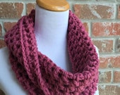 Pink Infinity Scarf -Chunky Pink Scarf - Pink Knit Scarf - Pink Crochet Scarf - Crochet Infinity Scarf - Knit Infinity Scarf