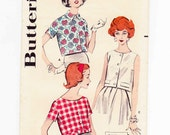 Womens Blouse, 50s Cropped Blouse, Sleeveless Crop Top, Butterick 8949, Size 14, Bust 34