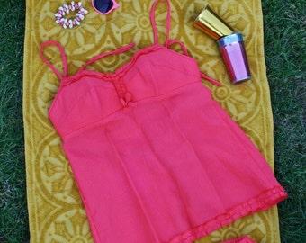 Vintage Babydoll 2 Piece Swimsuit, Bullet Bra, 60s Bathers, Vintage Swimwear