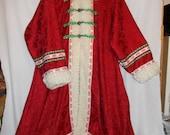 Santa Coat old Fashioned St. Nickolas Victorian Christmas Fashion Kris Kringle Papa Noel