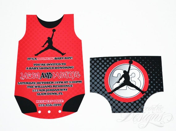 Air Jordan Baby Shower Invitation You Print Jumpman