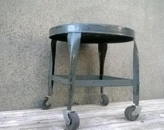 Vintage Industrial Toledo UHL Art Steel Rolling Work Machine Stool & Rolling stool   Etsy islam-shia.org