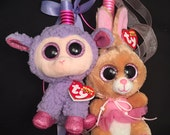 TY Beanie Boo Easter Plush Lamb Bunny Rabbit Greek Orthodox Easter Pasxa Candle Lambada