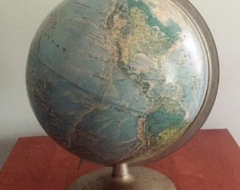 Raised Rand McNally Globe: Cold War Era