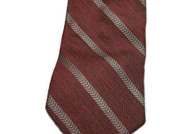 Valentino Cravatte Wool & Silk Striped Tie