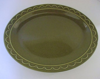Homer Laughlin Sheffield Granada Green - Large Oval Platter