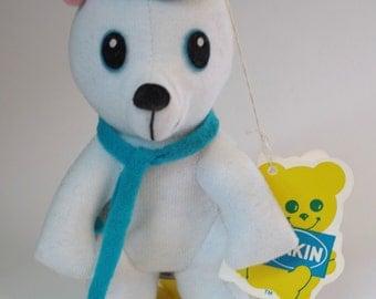 Vintage 1970s Dakin Stuffed Animal Oski the Polar Bear on Skis Unused with Tag