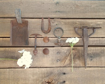 Instant Collection of Rusty Tools and Hardware