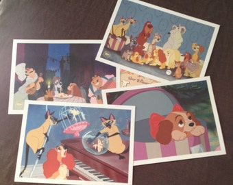 Lady and the tramp lithograph