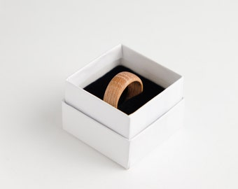 Oak Ring Rustic Mens Jewelry Wood Ring Resin Stabilized