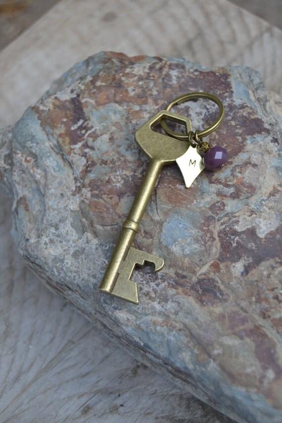 mens personalized bottle opener keychain rustic key keyring. Black Bedroom Furniture Sets. Home Design Ideas