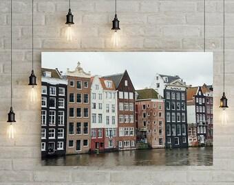 Amsterdam Wall Art, Photography Print of Amsterdam, Skyline, Landscape Photo Print, Neutral, Modern Art, European Travel, Amsterdam Decor