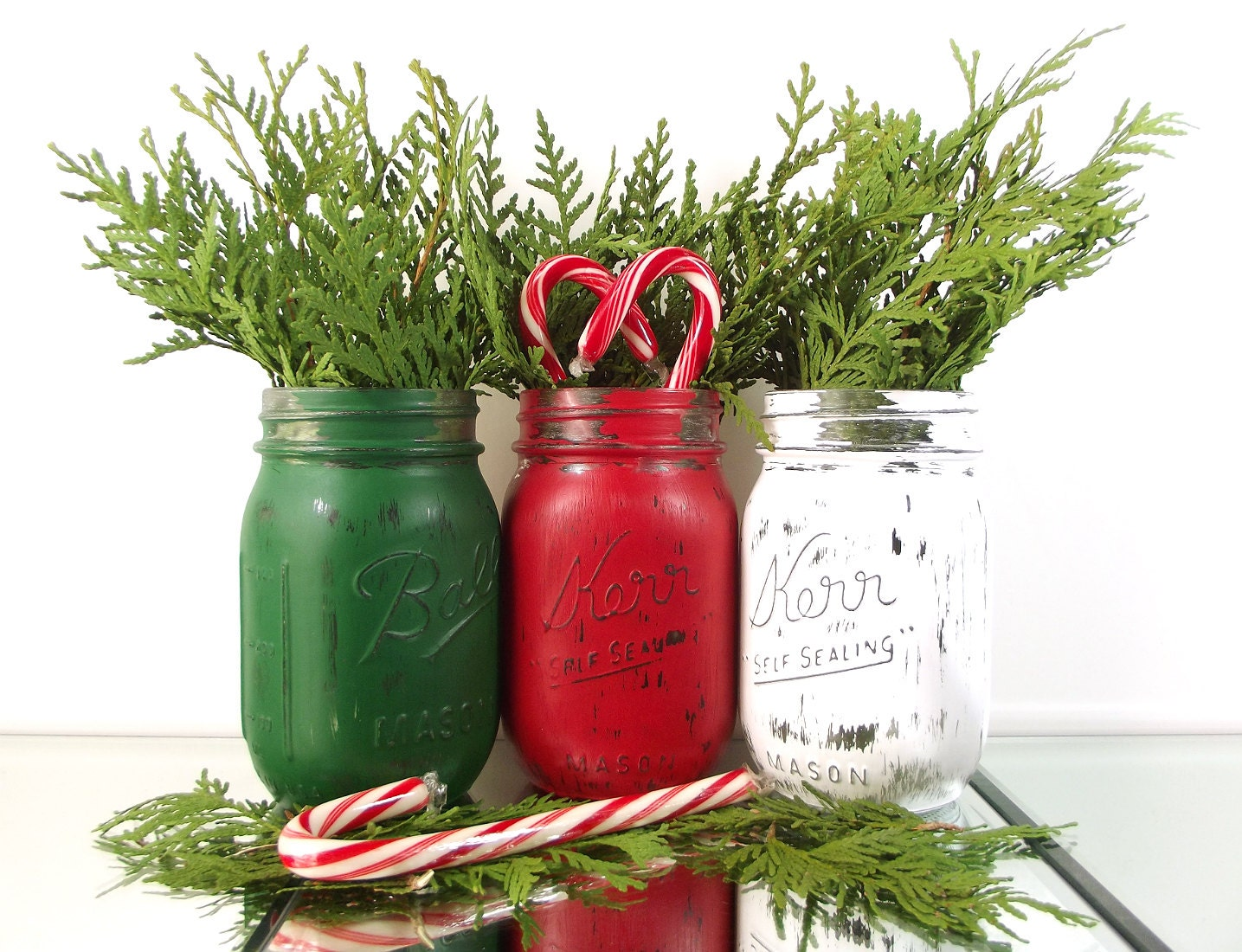 Christmas Decor Mason Jar Decor Christmas Decorations Candy