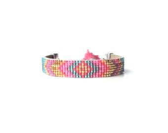 Beadloom bracelet, boho bead loom bracelet, friendship bracelet, bead loom bracelet, tassel bracelet, beaded bracelet, evil eye bracelet