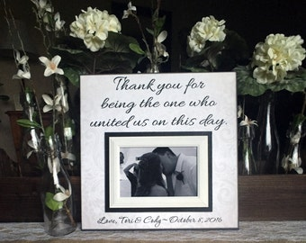 Personalized Wedding Officiant Frame Officiant Gift Thank You