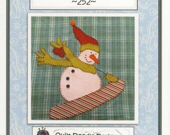 Snowboarding Fun! Applique Pattern by Quilt Doodle Designs (QD252)