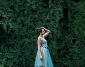 Silver Gray Tessa Tutu / Sparkle / Tulle Skirt / High Waist / Midi Skirt / Holiday Fashion / Party Dress / Christmas Dress / Bridesmaid