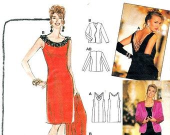 Sheath Dress Couture Pattern Back Design Option Jacket Burda 4639 Sewing Pattern Wide Neckline Plus Size Included Size 10 - 20 Uncut
