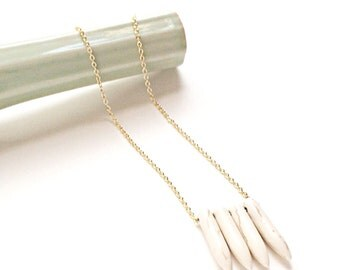 Howlite Spike Necklace