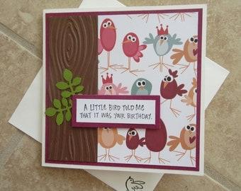 A Little Bird Told Me...Birthday Card