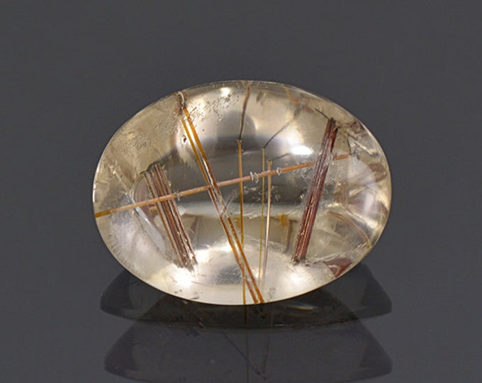 FLASH SALE Nice Quartz with Rutile Inclusion Gemstone from Brazil 13.55 cts.