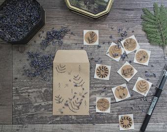 Kraft Botanical Stickers