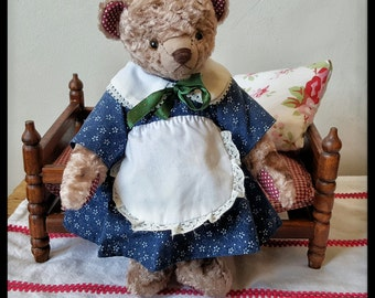 Artist teddy bear 9 inches (24 cm), vintage style teddy bear, plush teddy bear, OOAK teddy bear, handmade teddy bear, stuffed teddy bear