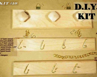 DIY Jewelry Organizer. Personalize & Decorate Your Own Jewelry Hanger for Necklaces, Bracelets, Rings. Great Kids' Crafts KIT #10