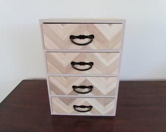 Blonde Wood Pattern Large Jewelry Box