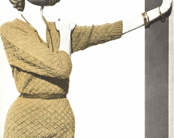 Dress Royale • 1960s Knitting Knit Sweater Pattern • Vintage Vogue Knit •  1961 Woman's Digital PDF